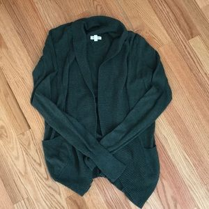 Green open cardigan purchased at Urban Outfitters!